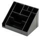 Подставка-органайзер СТАММ «Каскад», 115×160×105 мм, 9 отделений, черная