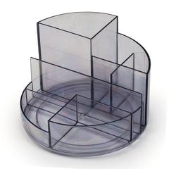 Подставка-органайзер СТАММ «Профи», 130×130×90 мм, 6 отделений, тонированная серая