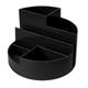 Подставка-органайзер СТАММ «Профи», 130×130×90 мм, 6 отделений, черная