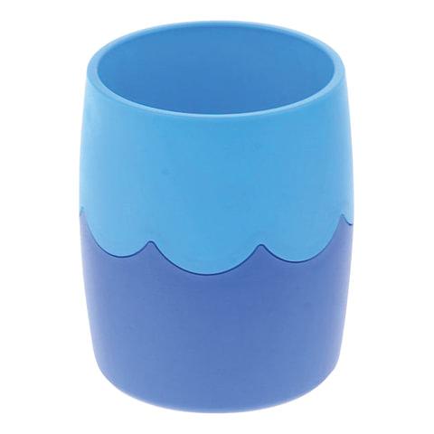 Подставка-органайзер СТАММ (стакан для ручек), сине-голубая, непрозрачная