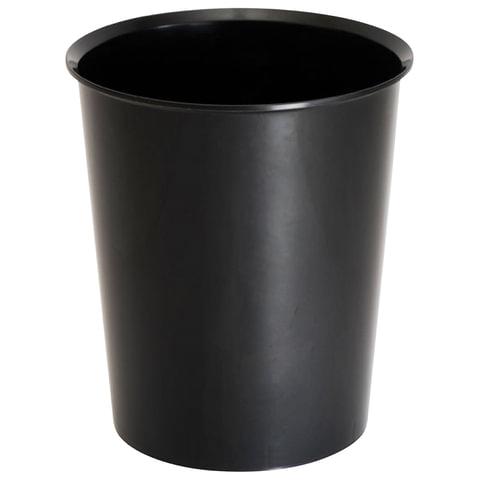 Корзина для бумаг СТАММ цельная, 14 л, черная