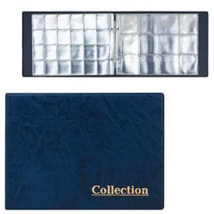 Альбом для монет на 2-х кольцах, 240×175×27 мм, для 180 монет, 5+5 листов (карманы 33×37 мм+50×50 мм)