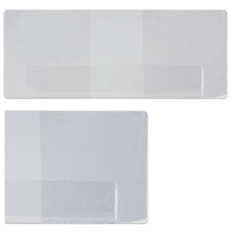 Обложка для удостоверения, ПВХ, 90×226 мм, прозрачная, ДПС