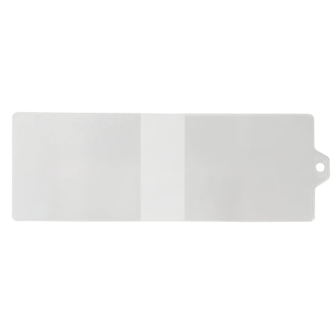Обложка для удостоверения с хлястиком, ПВХ, 78х224 мм, прозрачная, ДПС