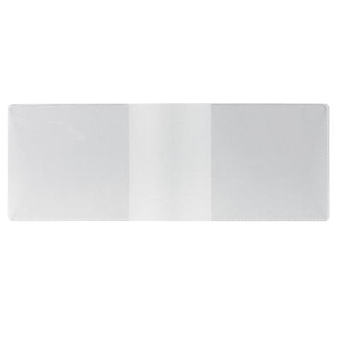 Обложка для удостоверения, ПВХ, 210×77 мм, прозрачная, ДПС