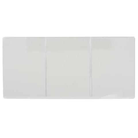 Обложка для автодокументов, ПВХ, 262х122 мм, трехсекционная, прозрачная, ДПС