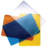Обложка-карман для проездных документов и карт, ПВХ, ассорти (прозрачная синяя, желтая, оранжевая), 65×98 мм, ДПС