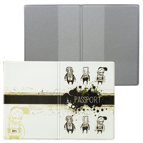 """Обложка для паспорта """"Твой стиль - Хулиганы"""", вертикальная, кожзаменитель, """"ДПС"""""""