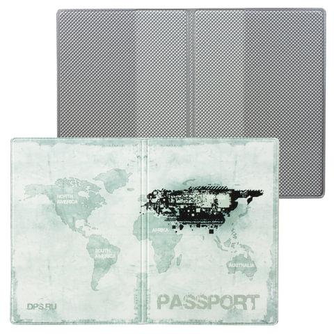 """Обложка для паспорта """"Твой стиль - Гранж"""", вертикальная, кожзаменитель, """"ДПС"""""""
