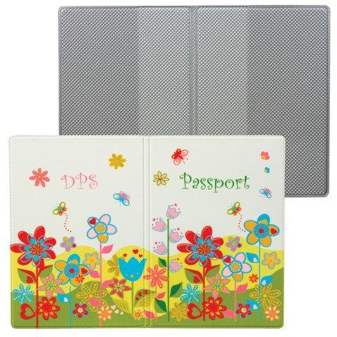 """Обложка для паспорта """"Твой стиль - Цветы"""", вертикальная, кожзаменитель, """"ДПС"""""""