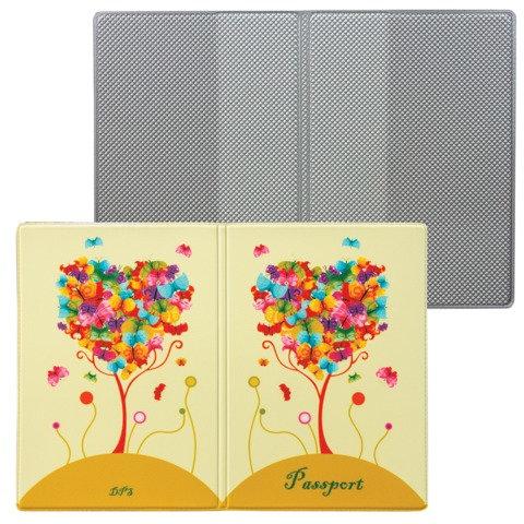Обложка для паспорта «Твой стиль — Дерево», вертикальная, кожзаменитель, «ДПС»