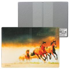 Обложка для паспорта «Твой стиль-Лошади», вертикальная, кожзаменитель, «ДПС»