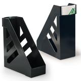 Лотки вертикальные для бумаг СТАММ, набор 2 шт., «Ультра», ширина 100 мм, черные