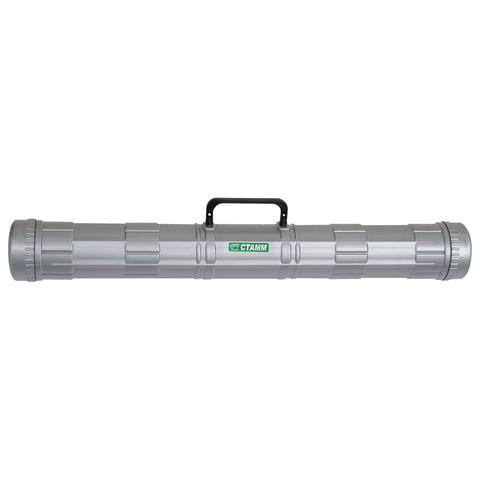 Тубус для чертежей СТАММ, диаметр 9 см, длина 70 см, А1, серый, с ручкой