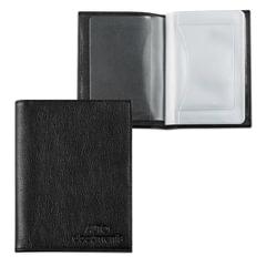 Бумажник водителя BEFLER «Грейд», натуральная кожа, тиснение, 6 пластиковых карманов, черный