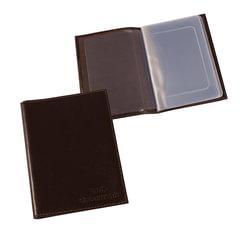 Бумажник водителя BEFLER «Грейд», натуральная кожа, тиснение, 6 пластиковых карманов, коричневый