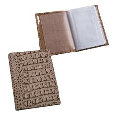 Бумажник водителя BEFLER «Кайман», натуральная кожа, тиснение, 6 пластиковых карманов, бежевый