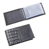 Визитница карманная BEFLER «Кайман», на 40 визитных карт, натуральная кожа, крокодил, серая