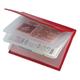 Бумажник водителя BEFLER «Ящерица», натуральная кожа, тиснение, 6 пластиковых карманов, красный