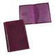 Обложка для паспорта BEFLER «Гипюр», натуральная кожа, тиснение, фиолетовая