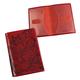 Обложка для паспорта BEFLER «Гипюр», натуральная кожа, тиснение, красная
