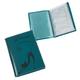 Бумажник водителя BEFLER «Изящная кошка», натуральная кожа, тиснение, 6 пластиковых карманов, бирюзовый