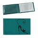 Визитница карманная BEFLER «Изящная кошка» на 40 визиток, натуральная кожа, тиснение, бирюзовая