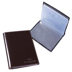 Бумажник водителя BEFLER «Classic», натуральная кожа, тиснение, 6 пластиковых карманов, коричневый