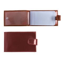 Визитница карманная BEFLER «Classic» на 40 визиток, натуральная кожа, кнопка, коньяк