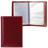 Визитница карманная BEFLER «Classic» на 40 визиток, натуральная кожа, коньяк