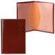 Обложка для паспорта BEFLER «Classic», натуральная кожа, тиснение «Passport», коньяк
