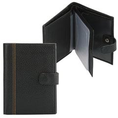 Бумажник водителя FABULA «Brooklyn», натуральная кожа, отстрочка, 6 пластиковых карманов, черный
