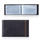 Визитница карманная FABULA «Brooklyn» на 40 визитных карт, натуральная кожа, контрастная отстрочка, черная