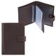 Бумажник водителя FABULA «Largo», натуральная кожа, тиснение «Documents», кнопка, коричневый