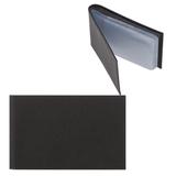 Визитница карманная FABULA «Largo» на 40 визиток, натуральная кожа, черная