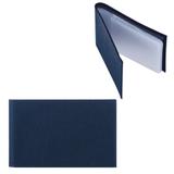 Визитница карманная FABULA «Largo» на 40 визиток, натуральная кожа, синяя