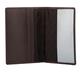 Обложка для паспорта FABULA «Estet», натуральная кожа, тиснение «Passport», темно-коричневая