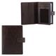Бумажник водителя FABULA «Estet», натуральная кожа, тиснение «Documents», кнопка, темно-коричневый