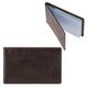 Визитница карманная FABULA «Estet» на 40 визитных карт, натуральная кожа, темно-коричневая