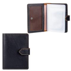 Бумажник водителя FABULA «Kansas», натуральная кожа, тиснение, 6 пластиковых карманов, кнопка, черный