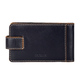 Визитница карманная FABULA «Kansas» на 40 визитных карт, натуральная кожа, контрастная отстрочка, кнопка, черная