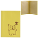 Обложка для паспорта FABULA «Friends», натуральная кожа, тиснение, лимон