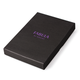 Визитница карманная FABULA «Friends» на 40 визиток, натуральная кожа, тиснение, грейпфрут