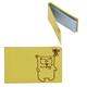 Визитница карманная FABULA «Friends» на 40 визитных карт, натуральная кожа, тиснение, лимон