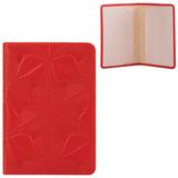 Обложка для паспорта FABULA «Abstraction», натуральная кожа, декоративное тиснение, красная