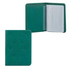 Бумажник водителя FABULA «Abstraction», натуральная кожа, тиснение, 6 пластиковых карманов, зеленый