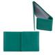 Визитница карманная FABULA «Abstraction» на 40 визитных карт, натуральная кожа, декоративное тиснение, кнопка, зеленая