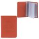 Бумажник водителя FABULA «Talisman», натуральная кожа, геометрическое тиснение, 6 пластиковых карманов, рыжий