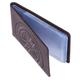 Визитница карманная FABULA «Talisman» на 40 визиток, натуральная кожа, геометрическое тиснение, шоколадная