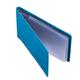 Визитница карманная FABULA «Talisman» на 40 визиток, натуральная кожа, геометрическое тиснение, голубая